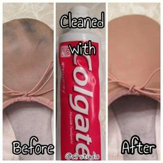 Clean leather ballet shoes with toothpaste!