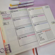 Are you in search of super pretty bullet journal weekly layouts? this post had great bullet journal inspiration so you can create your own gorgeous bullet Planner Bullet Journal, Bullet Journal Weekly Layout, Bullet Journal Ideas Pages, Bullet Journal Spread, Bullet Journal Inspo, Journal Pages, Bullet Journal For School, Daily Journal, Bullet Journal Assignment Tracker