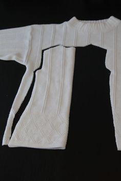 it's always autumn - itsalwaysautumn - winter white sweater dressupcycle