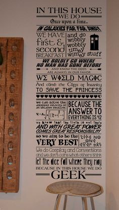 In this house we do Geek LM001 vinyl wall lettering door vinyl4decor