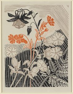 Campions And Columbines, Edward Bawden.