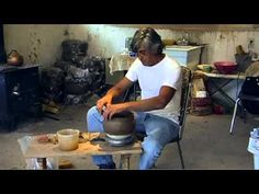 Micaceous Clay Pottery making process - YouTube