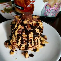 Mini Beast Mandy: Peanut Butter Cup Protein Pancakes