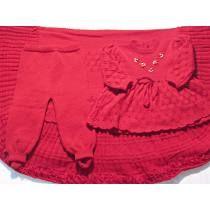 Saída De Maternidade - Manta -vestido-calça .
