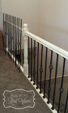 Great DIY How To Install Iron Balusters