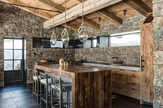 Love this open rustic kitchen!