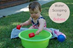 Sensory Play: Water Scooping for Babies. From Tinkerlab.com