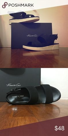KENNETH COLE Shoe Style: Liv                                                  Color: Black                                                      Material: Leather Upper                                     Size: 7.5 Kenneth Cole Shoes Sandals