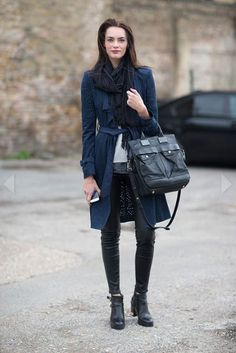 The is always chic! Especially with this large bag.