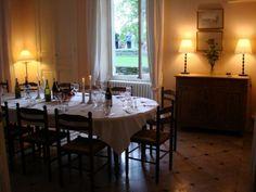 Elegant dining at La Maison du Chateau - Burgundy - France - Family Friendly Holidays http://totstotravel.co.uk/property/294/la-maison-du-chateau/