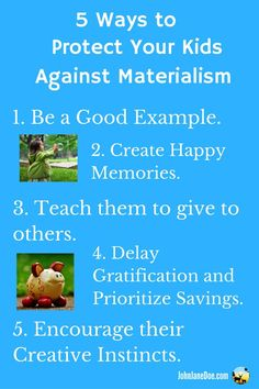 5 Ways to Protect Your Kid Against Materialism Big