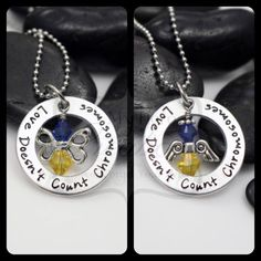 Hand Stamped Love Doesn't Count Chromosomes by MyHeroCreations