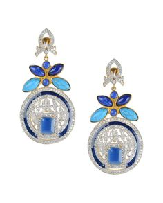 Round Earrings with Zircons - Buy Nidhaan Jewelry Online | Exclusively.in #Exclusivelyin #IndianEthnicWear #IndianWear #Fashion #Jewellery