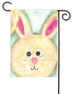 """Floppy Eared Bunny Toland Easter Garden Flag by Toland. $9.99. Floppy Eared Bunny Toland Garden Flag. Colorful Easter Flag with adorable large bunny with floppy ears by Artist Marianne Richmond. Design is visible from both sides with vibrant colors and detail. Toland Easter Garden Flag Measures 12.5"""" x 18"""". Toland Flags  are the original imprinted flag. Toland Seasonal and Holiday Flags and Banners feature exclusive ColorMax permanent-dye process and military grade polyester..."""