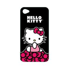 Hello Kitty Black/ Red Bows Back Cover for Apple iPhone 4/4s