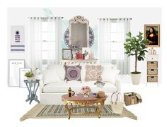 """Living Room"""" by katethequeen liked on Polyvore featuring interior ..."""