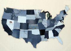Denim USA map from Splurge Design