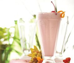 """Boozy Manhattan Milkshake from Grace Potter.     """"This decadent dessert cocktail is a conversation between two wonderful people in my life: my grandfather, who made the best manhattans in the world, and my Uncle Morgan, whose milk shakes are masterpieces. It tastes like home, no matter how far away I go,"""" Potter says."""