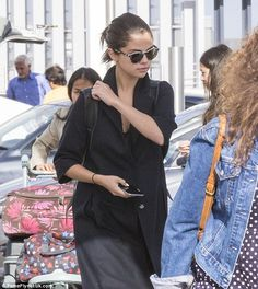 Home time! Selena Gomez's week of birthday celebrations came to an abrupt end on Tuesday a...