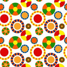 Chicklet Circles fabric by vo_aka_virginiao on Spoonflower - custom fabric