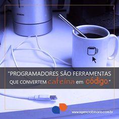 Os Programadores são uns dos profissionais que menos dormem segundo estudo!  #Café #Cafeína #Programador #Developer #DesenvolvedorWeb #VidaDeProgramador #Código