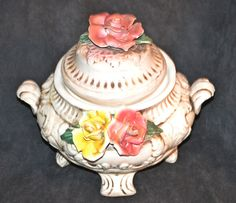 Capodimonte Soup Tureen, Ceramic Soup Tureen, Made In Italy by Collectitorium on Etsy Halloween Candy, Candy Dishes, Makers Mark, Soup, Italy, Ceramics, How To Make, Vintage, Italia
