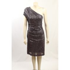 Stunning Purple One Shoulder Sequin Cocktail Dress from Ralph Lauren. The dress is made is a stretch sequin fabric, is fully lined and is ruched. Sequin Cocktail Dress, Sequin Fabric, Hot Dress, Exclusive Collection, Designer Dresses, Size 10, Sequins, Ralph Lauren, Formal Dresses