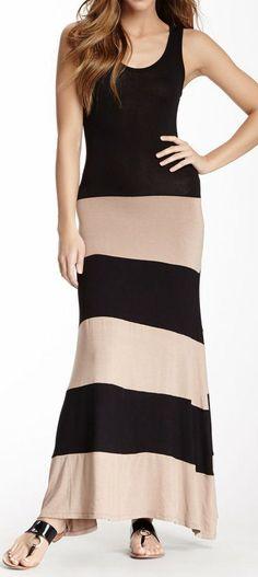 Bold Stripes Maxi Dress //
