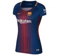 Nike Women's Barcelona Home Jersey 17/18 - Deep Royal Blue/University Gold