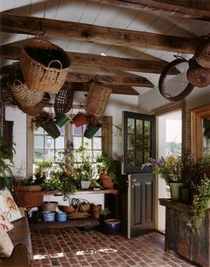 There are many ways to use your garden shed other than for gardening. Or, you could use it as a craft room for creating all of those wonderful things that are fun Estilo Interior, Mudroom, Cottage Style, Cottage Design, My Dream Home, Future House, Beautiful Homes, Beautiful Kitchens, Beautiful Interiors