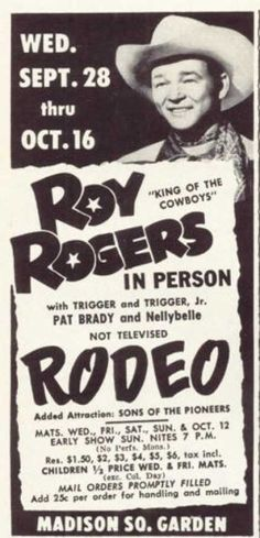 Roy Rogers Event Poster