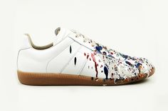 Image of Maison Martin Margiela 2013 Pre-Fall Hand Painted Colour Drop Replica Sneaker