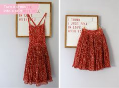 Lotts and Lots   Making the everyday beautiful: DIY - turn a dress into a skirt