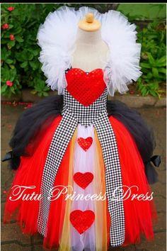 ALICE IN WONDERLAND QUEEN OF HEARTS TUTU GIRL DRESS  HALLOWEEN COSTUME SIZE 3t #Handmade #Dress