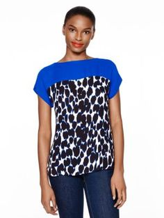 be daring leopard print crepe - kate spade new york