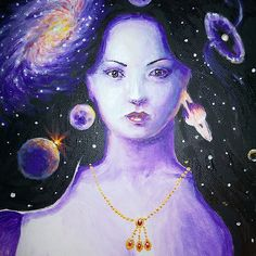 The universe in her hair