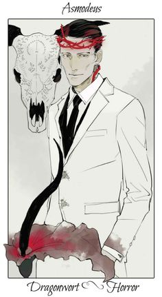 Asmodeus by Cassandra Jean | Flower Card - Dragonwort - Horror | TMI Shadwhunters | Greater Demon | Prince of Hell