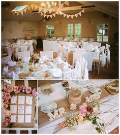 Lace, bunting and burlap.  Wedding photos at the Parlour at Blagdon.  Photography by www.2tonephotography.co.uk