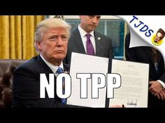 Donald Trump Pulls US Out Of The TPP Deal - YouTube