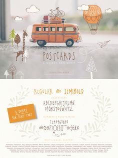 Postcards - a quirky