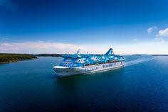 Die Galaxy von Tallink Silja auf dem Weg nach Åland - http://www.nordicmarketing.de/tallink-silja-viele-wege-fuehren-nach-aland/
