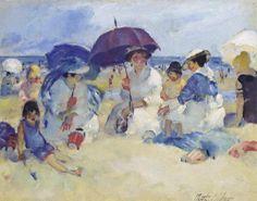 Martha Walter (American Impressionist, 1875–1976) - On The Beach