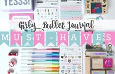 Make room in your desk drawers or pencil case. Pastel, Glitter, and Gold Foil stationery supplies fill this list of top girlybullet journal must-haves. *This post may contain affiliate links. Please see my Disclosure for more information. If you have followed me at all, you know that I'm a sucker for all things girly. Strangely...