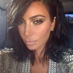 kim kardashian #longbob #makeuplook