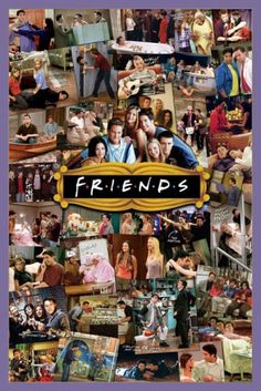 Friends TV Show Photo Collage Poster 2436 Wall Art Print Home Decoration New Friends Tv Show Cast, Serie Friends, Friends Moments, Friends Forever, Friends Scenes, Collage Poster, Poster Prints, Poster Poster, Art Print