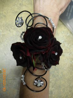 black corsages for prom | via weiqing liu