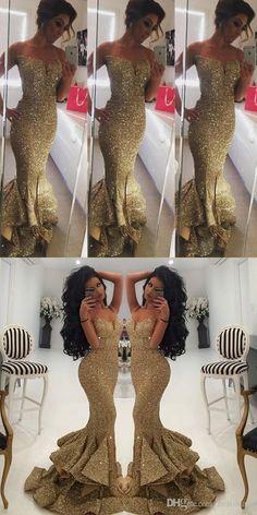 gold sequins bridesmaid dress, long bridesmaid dress, mermaid long bridesmaid dress, 2017 bridesmaid dress, formal evening dress