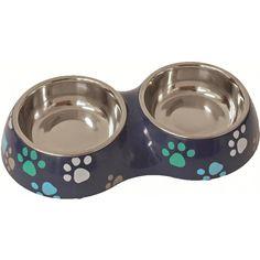 Lief! Boys Doppelnapf für Hunde und Katzen Blau Dog Bowls, Plastic, Pets, Lifestyle, Products, Dog Food, Blue, Plastic Art, Gadget