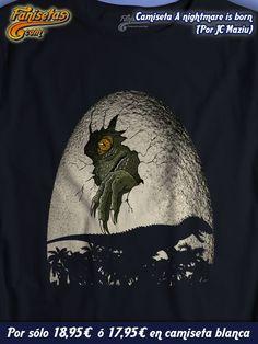 """""""A nightmare is born"""" No olvidemos que aunque sean dinosaurios recién salidos del huevo, los #Indominus #rex ya son unas bestias muy inteligentes. Sólo con esta camiseta os podréis camuflar de ellos. #Camisetas #Fanisetas #JurassicPark #JurassicWorld http://www.fanisetas.com/nightmare-is-born-p-6055.html"""