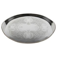 Vintage English Sheffield Silver Plated Oval Serving/Barware Tray | From a unique collection of antique and modern sheffield and silverplate at https://www.1stdibs.com/furniture/dining-entertaining/sheffield-silverplate/